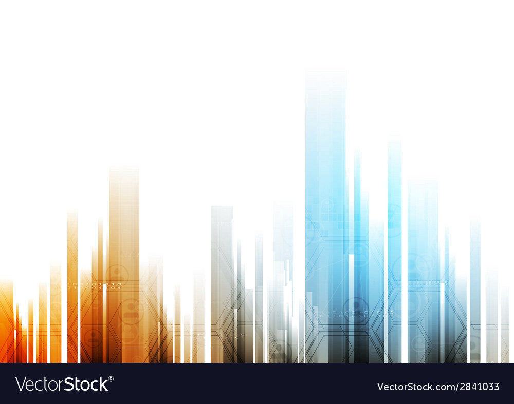 Bright abstract background with tech elements vector | Price: 1 Credit (USD $1)