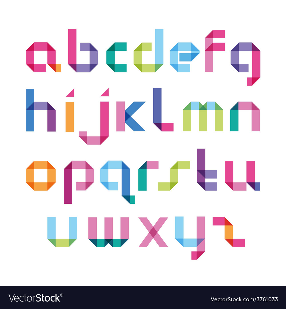 Color alphabet with sharp corners vector | Price: 1 Credit (USD $1)