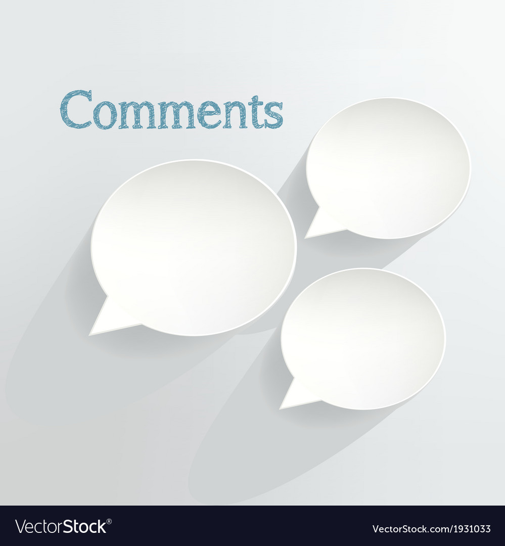 Comments vector | Price: 1 Credit (USD $1)