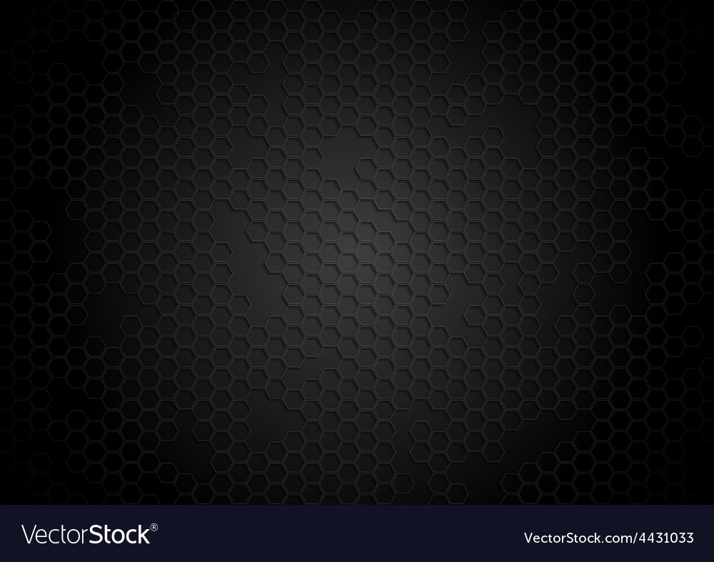 Dark tech background with hexagons vector | Price: 1 Credit (USD $1)