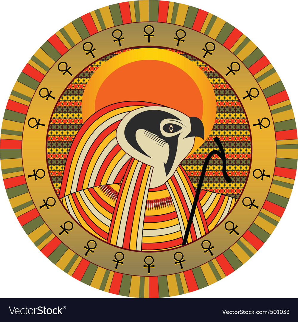 Egyptian god of sun ra vector | Price: 3 Credit (USD $3)