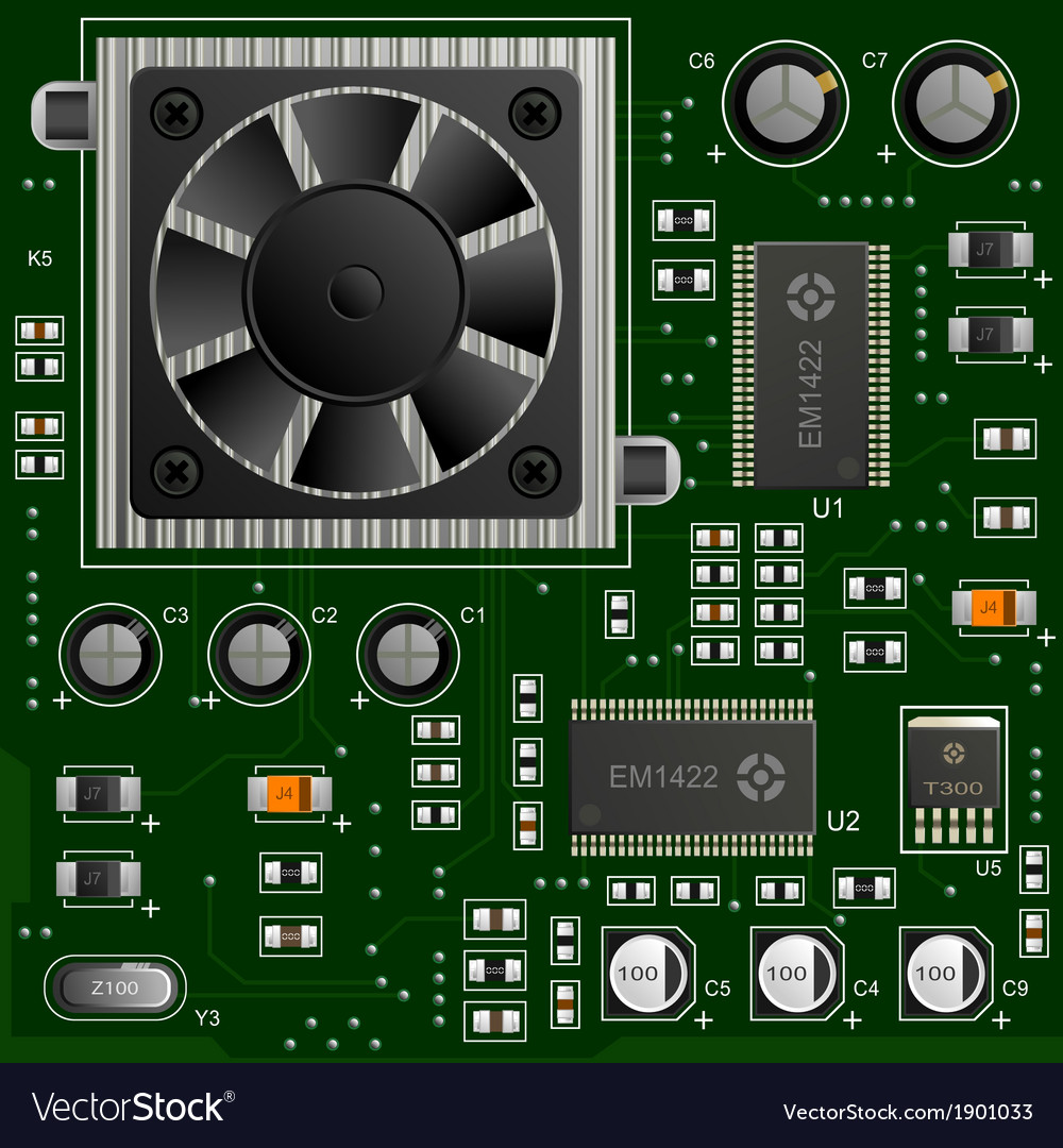 Electronic components vector | Price: 1 Credit (USD $1)