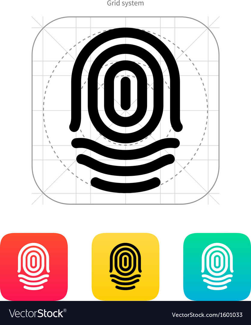 Fingerprint whorl type icon vector | Price: 1 Credit (USD $1)