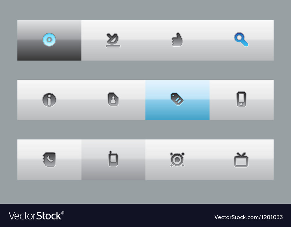 Interface buttons vector | Price: 1 Credit (USD $1)