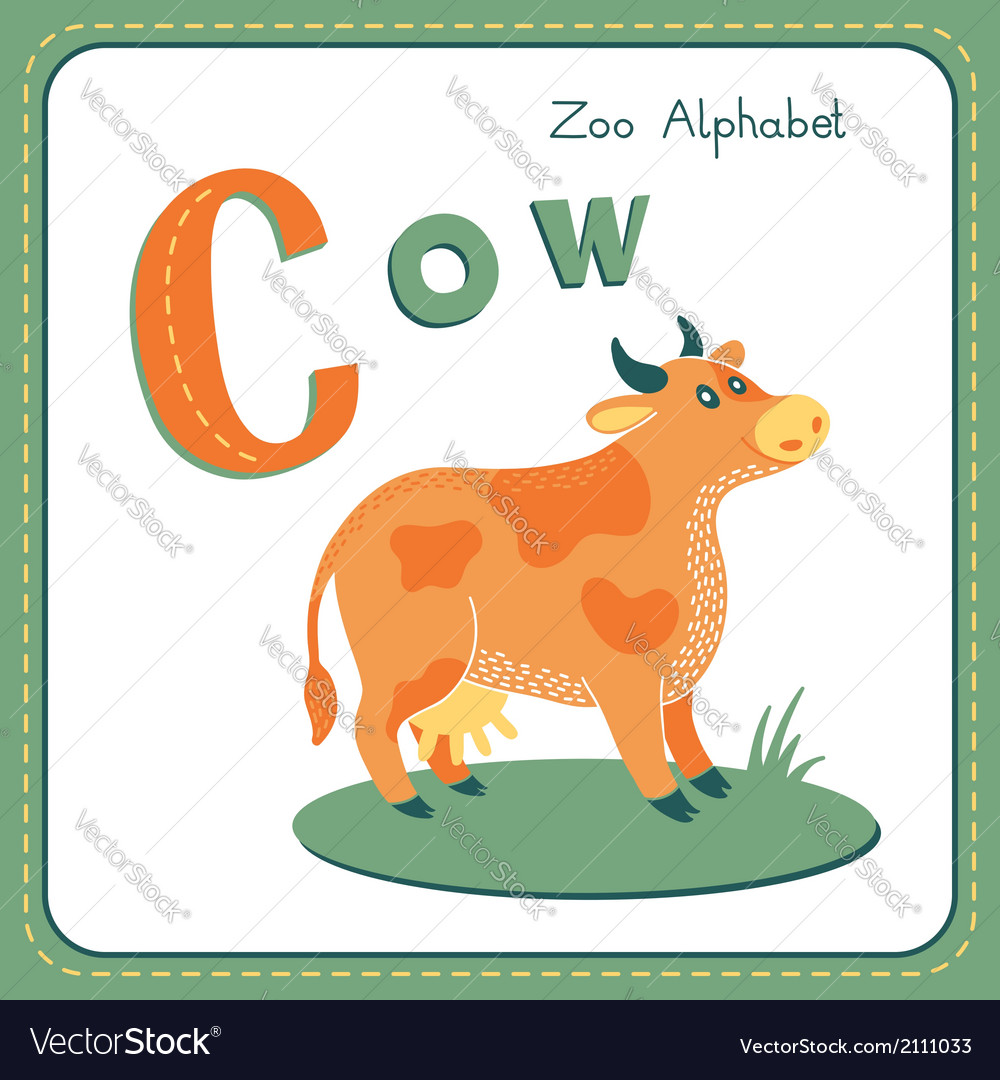 Letter c - cow vector | Price: 1 Credit (USD $1)