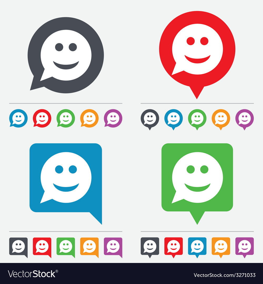 Smile face sign icon smiley symbol vector | Price: 1 Credit (USD $1)
