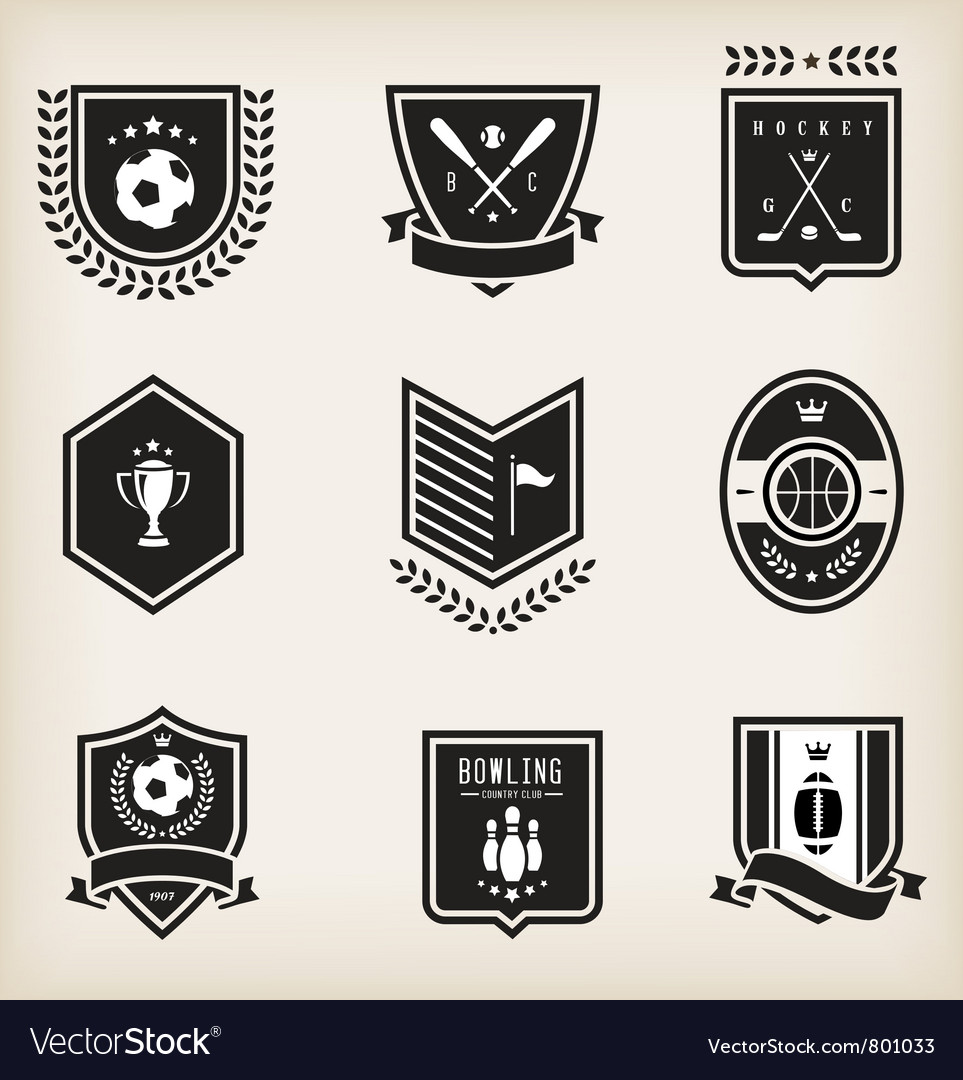 Sport emblems vector | Price: 1 Credit (USD $1)