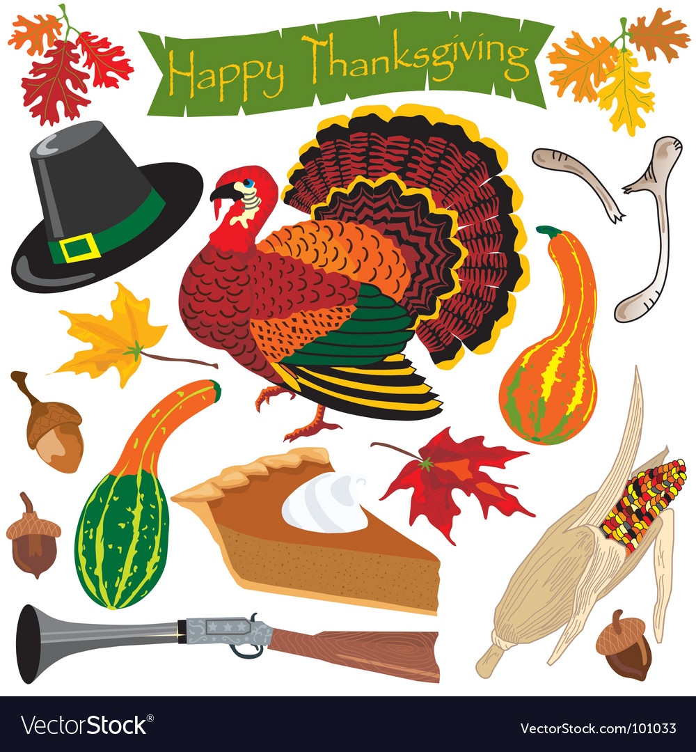 Thanksgiving clipart icons vector | Price: 3 Credit (USD $3)