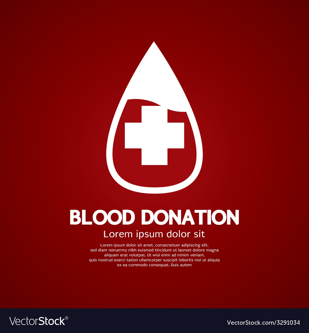 Blood donation graphic vector | Price: 1 Credit (USD $1)