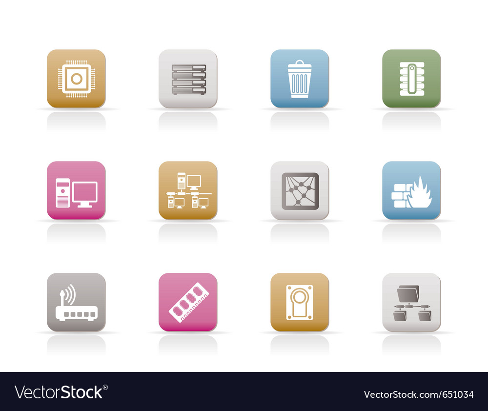 Computer and website icons vector | Price: 1 Credit (USD $1)