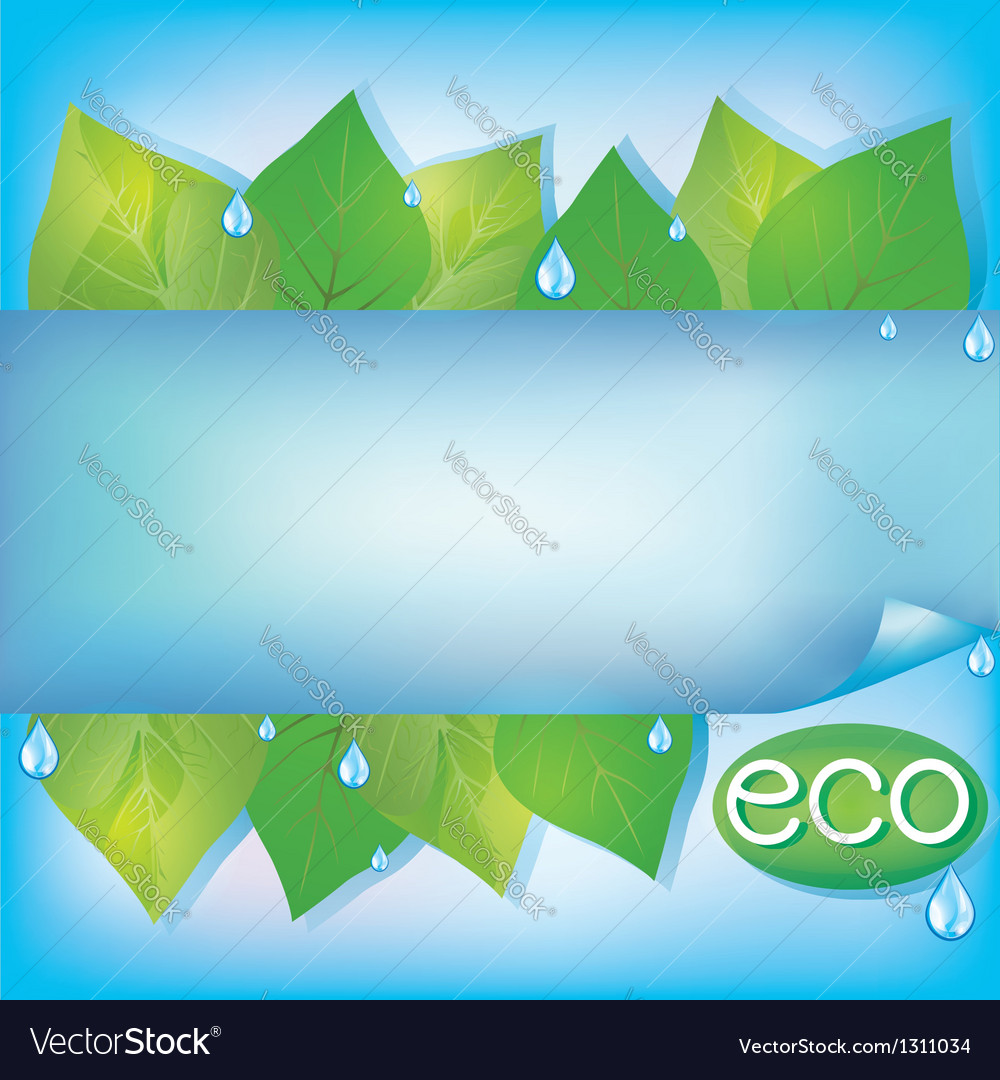 Eco background with green leaves vector | Price: 1 Credit (USD $1)