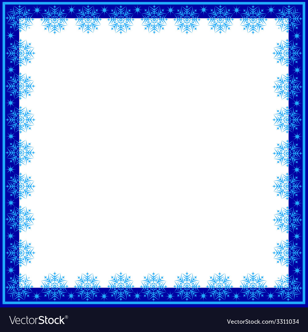Frame of snowflakes vector | Price: 1 Credit (USD $1)