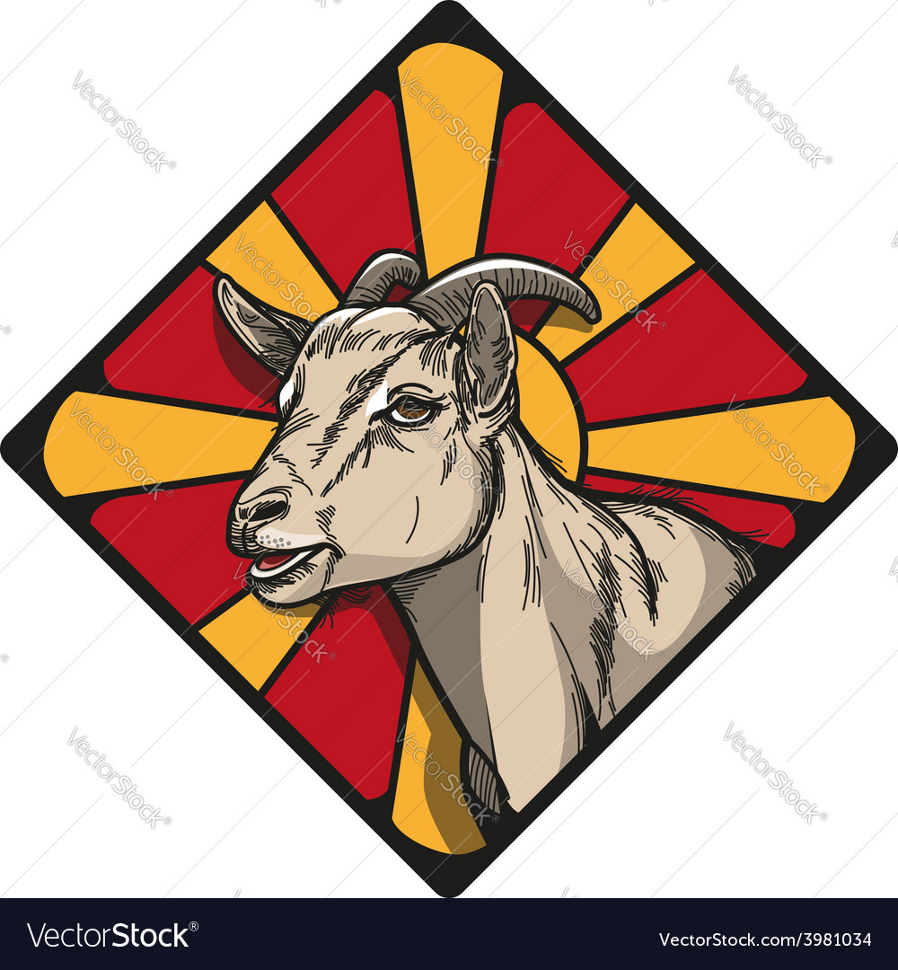 Goat icon vector | Price: 3 Credit (USD $3)