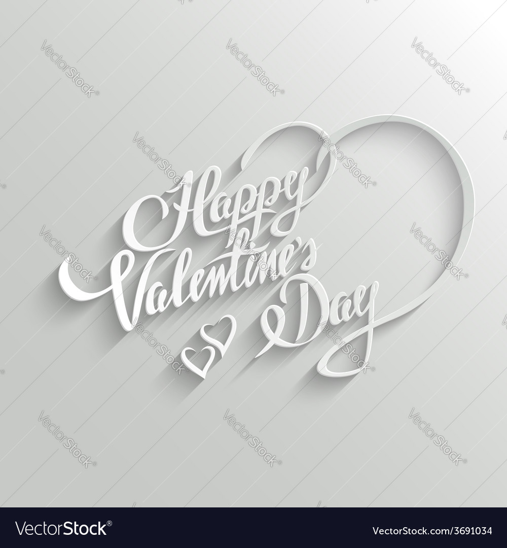 Happy valentines day lettering greeting card vector | Price: 1 Credit (USD $1)