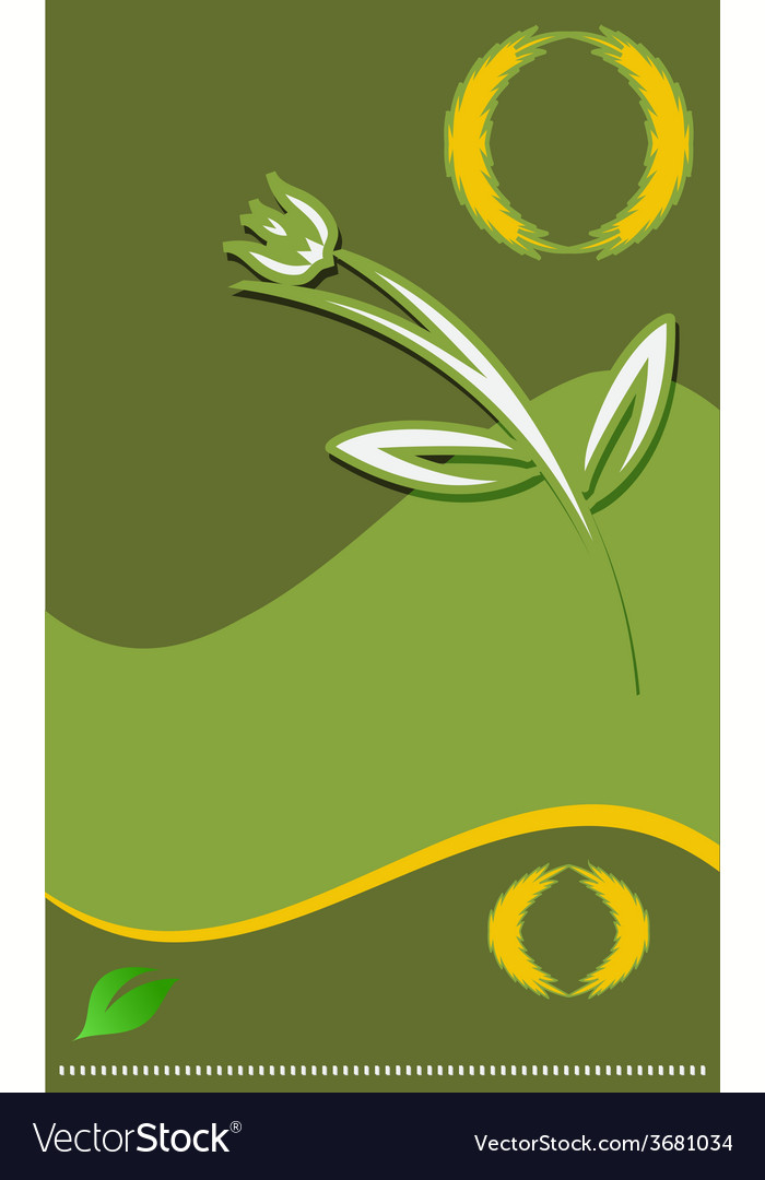 Modern flower template for your design vector | Price: 1 Credit (USD $1)