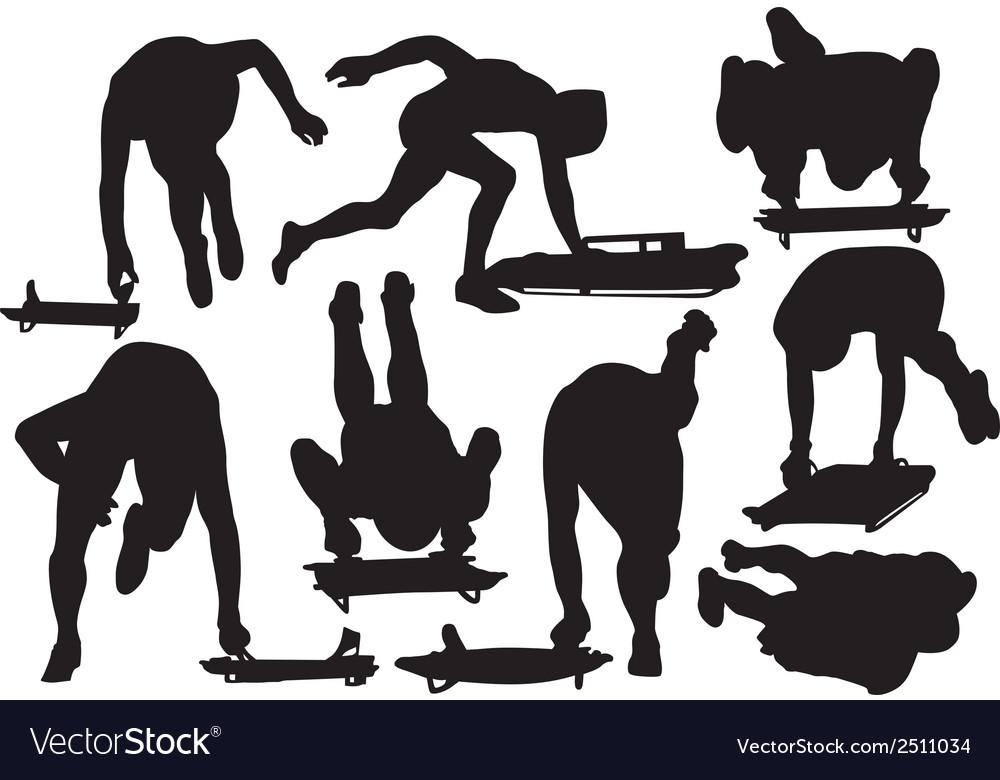 Skeleton sport silhouette vector   Price: 1 Credit (USD $1)
