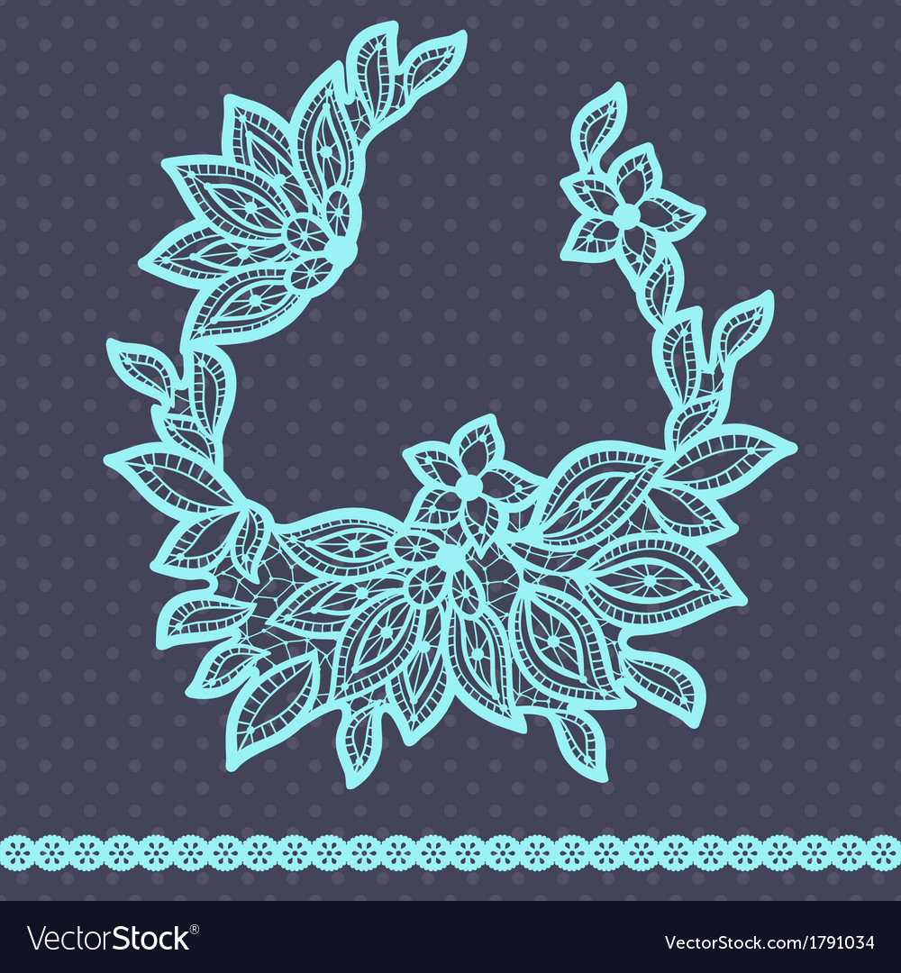 Vintage lace background abstract ornament texture vector | Price: 1 Credit (USD $1)