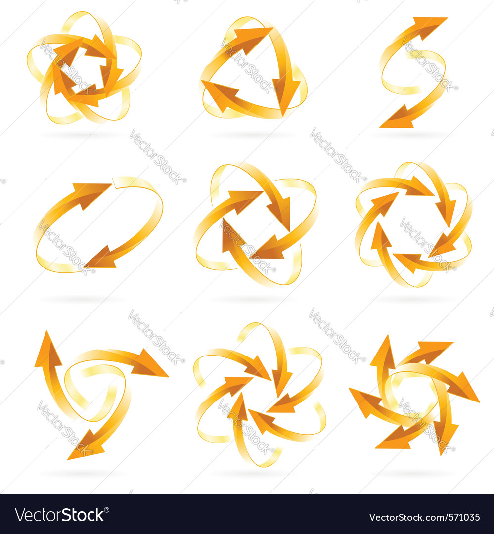 Arrow circles vector | Price: 1 Credit (USD $1)