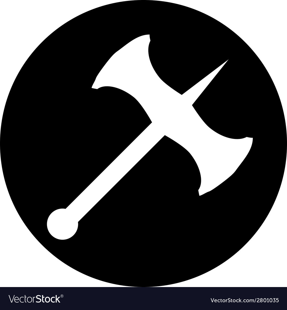Battle axe button vector | Price: 1 Credit (USD $1)