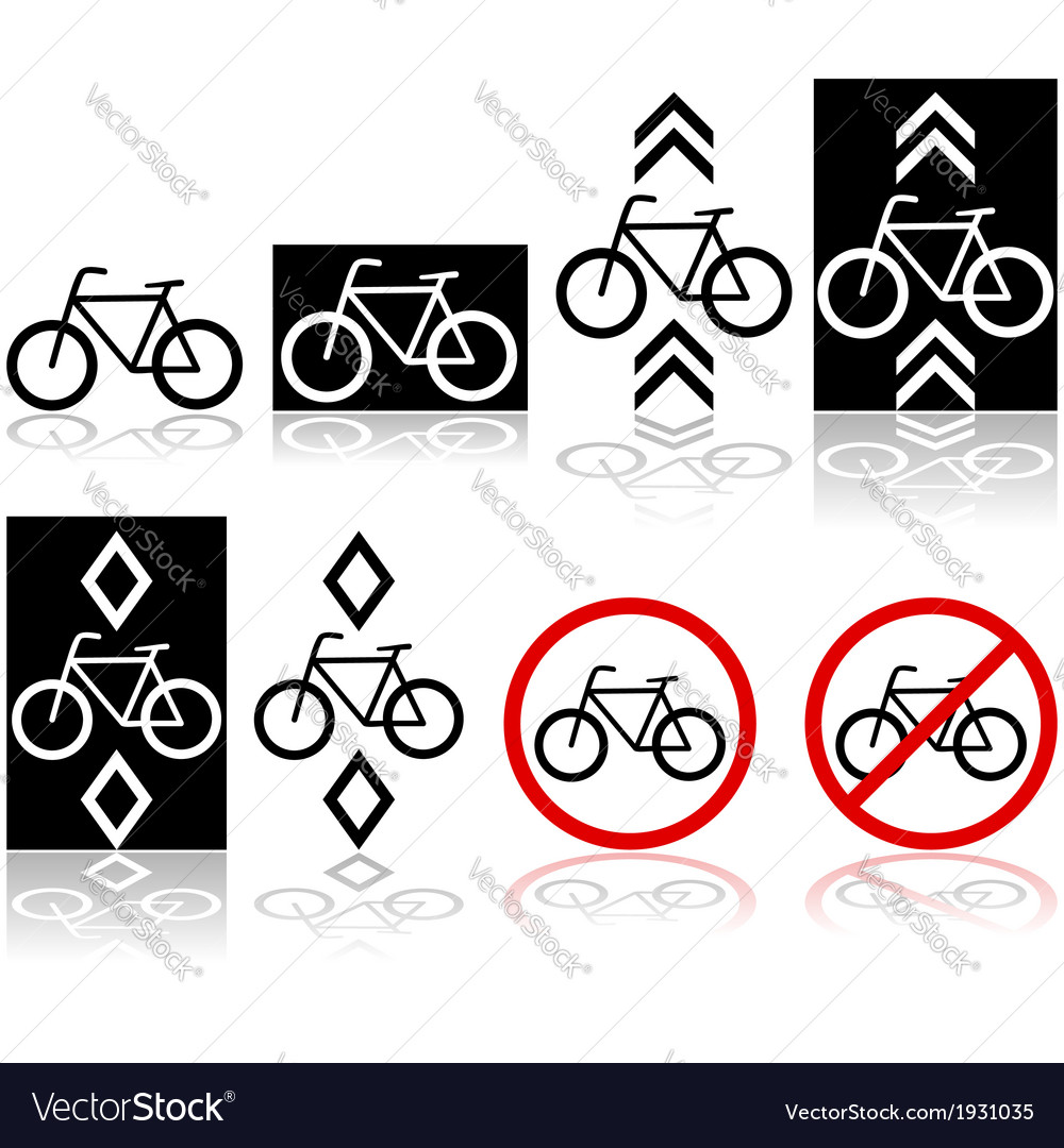 Bicycle signs vector | Price: 1 Credit (USD $1)