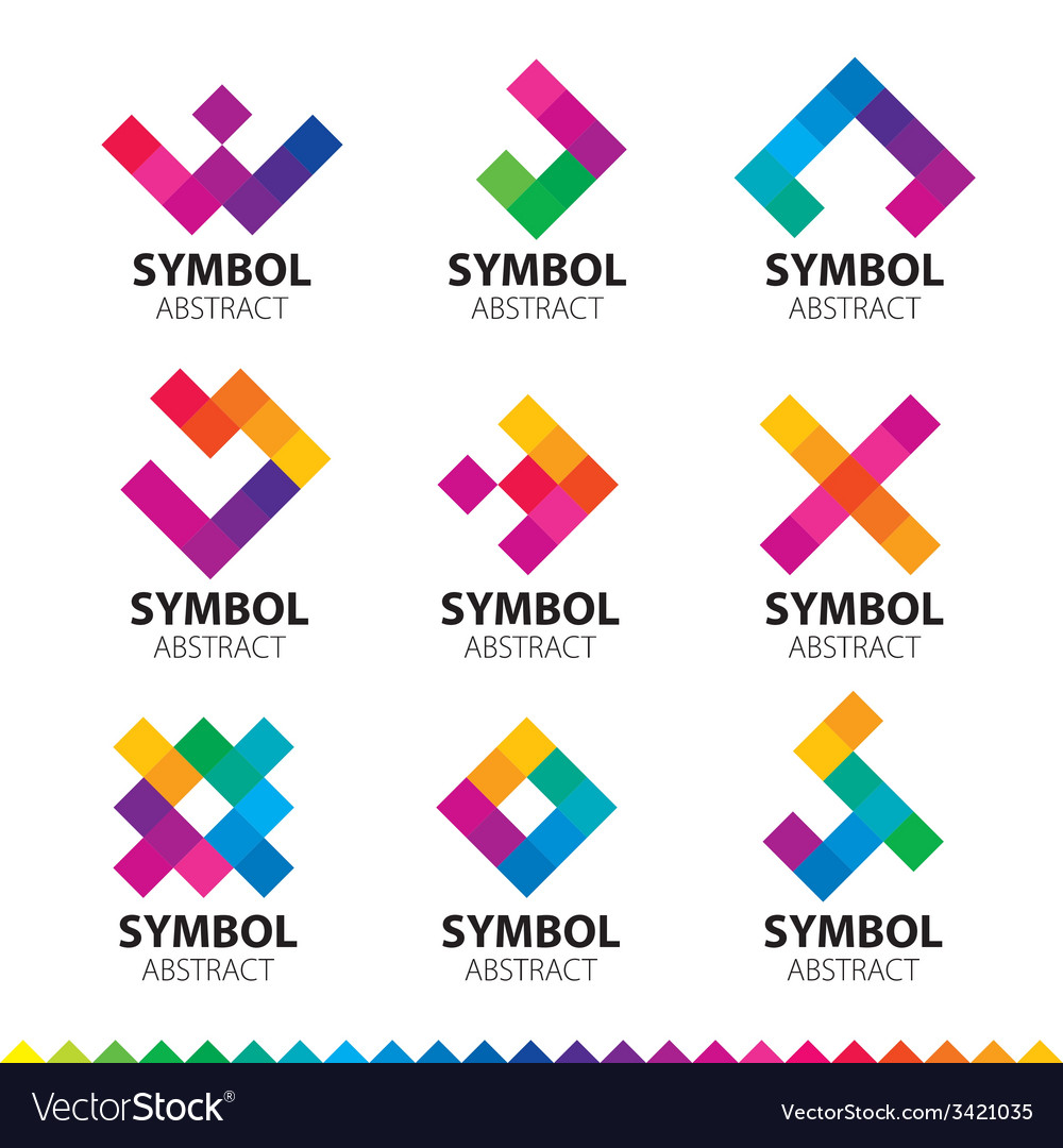 Biggest collection of logos of abstract modules vector | Price: 1 Credit (USD $1)