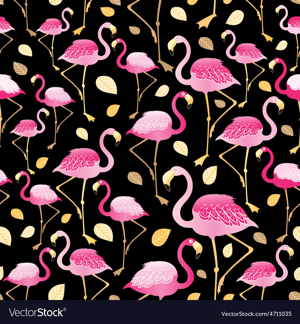 Bright pattern flamingos vector | Price: 1 Credit (USD $1)