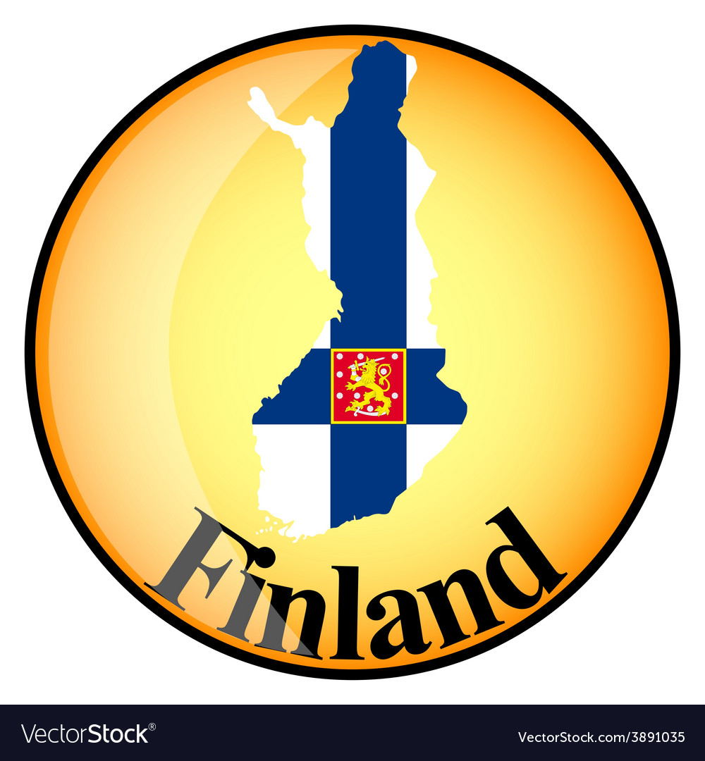 Button finland vector | Price: 1 Credit (USD $1)