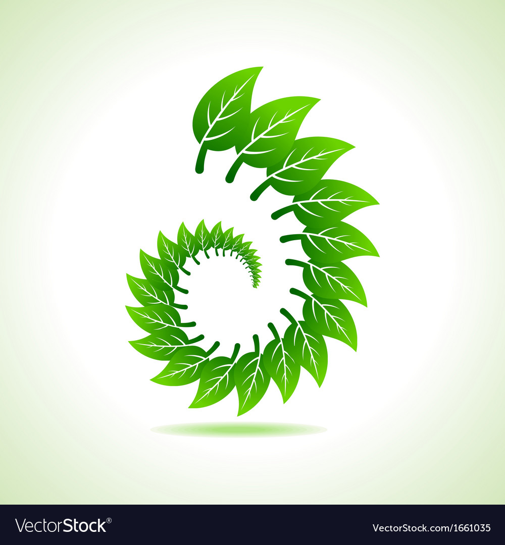 Eco leaf icon vector | Price: 1 Credit (USD $1)