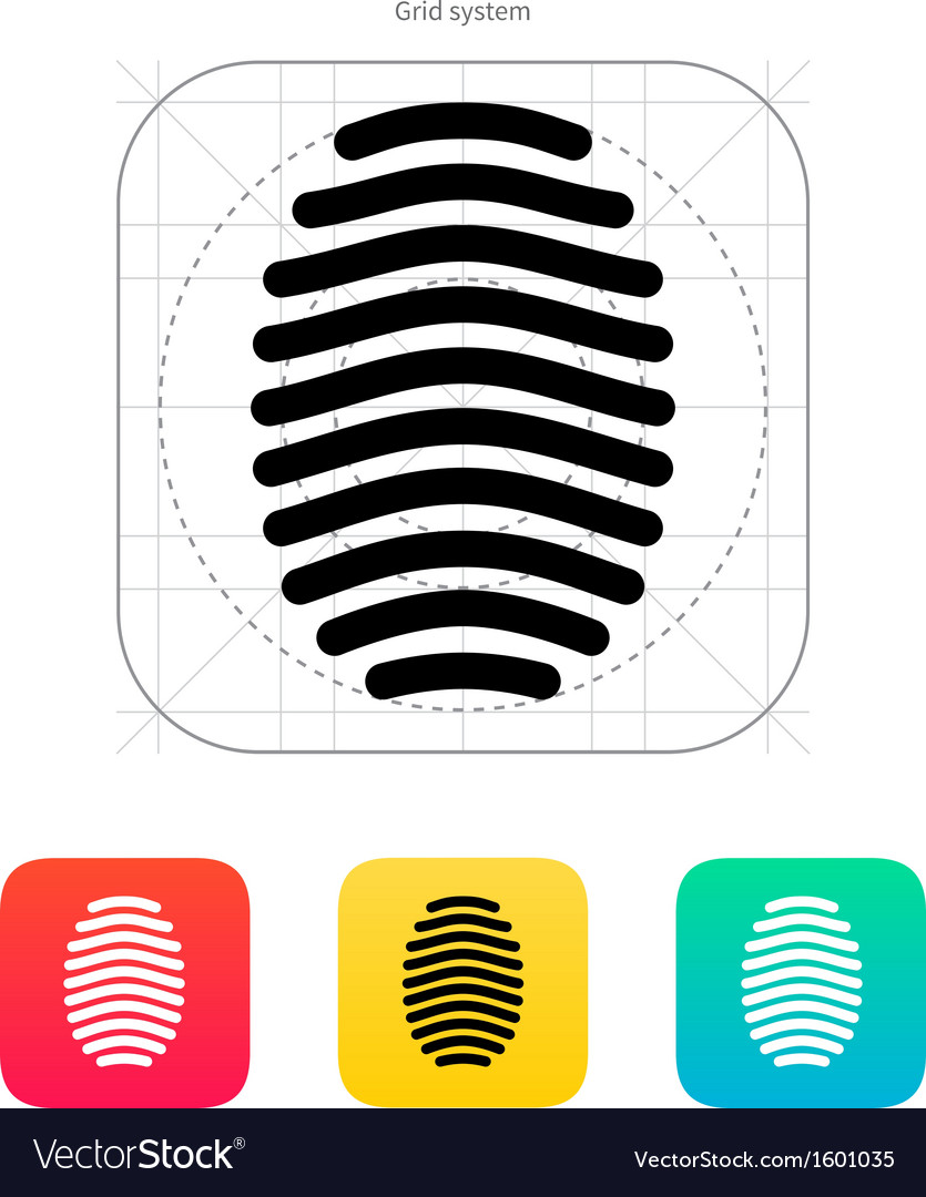 Fingerprint arch type icon vector | Price: 1 Credit (USD $1)