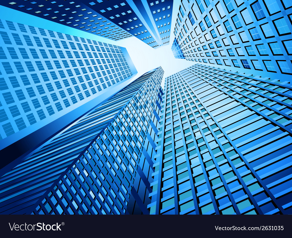 Skyscraper office building vector | Price: 1 Credit (USD $1)