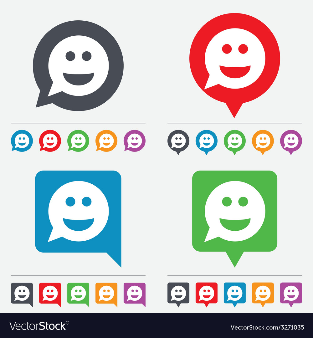 Smile face sign icon smiley symbol vector | Price: 1 Credit (USD $1)