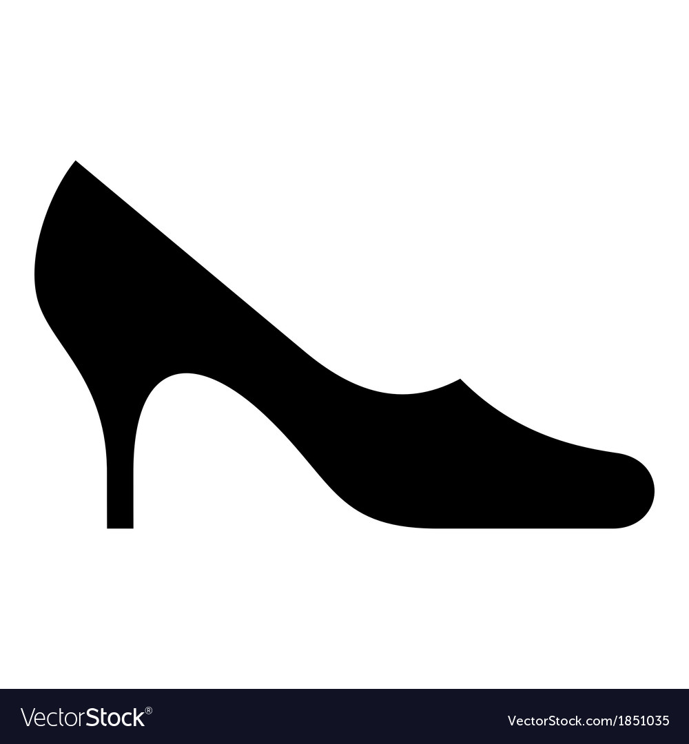 Symbol of female shoe vector | Price: 1 Credit (USD $1)