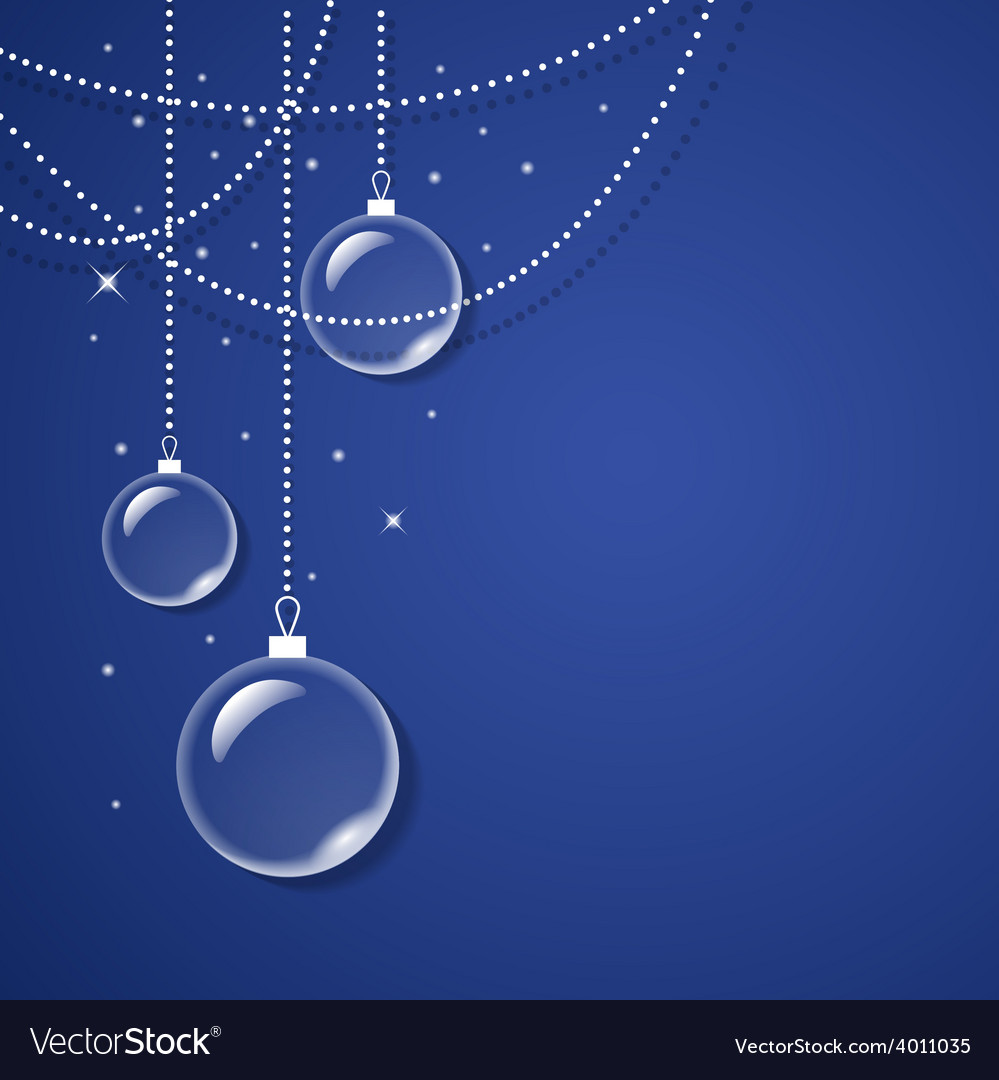 Transparent glass balls on blue background vector | Price: 1 Credit (USD $1)