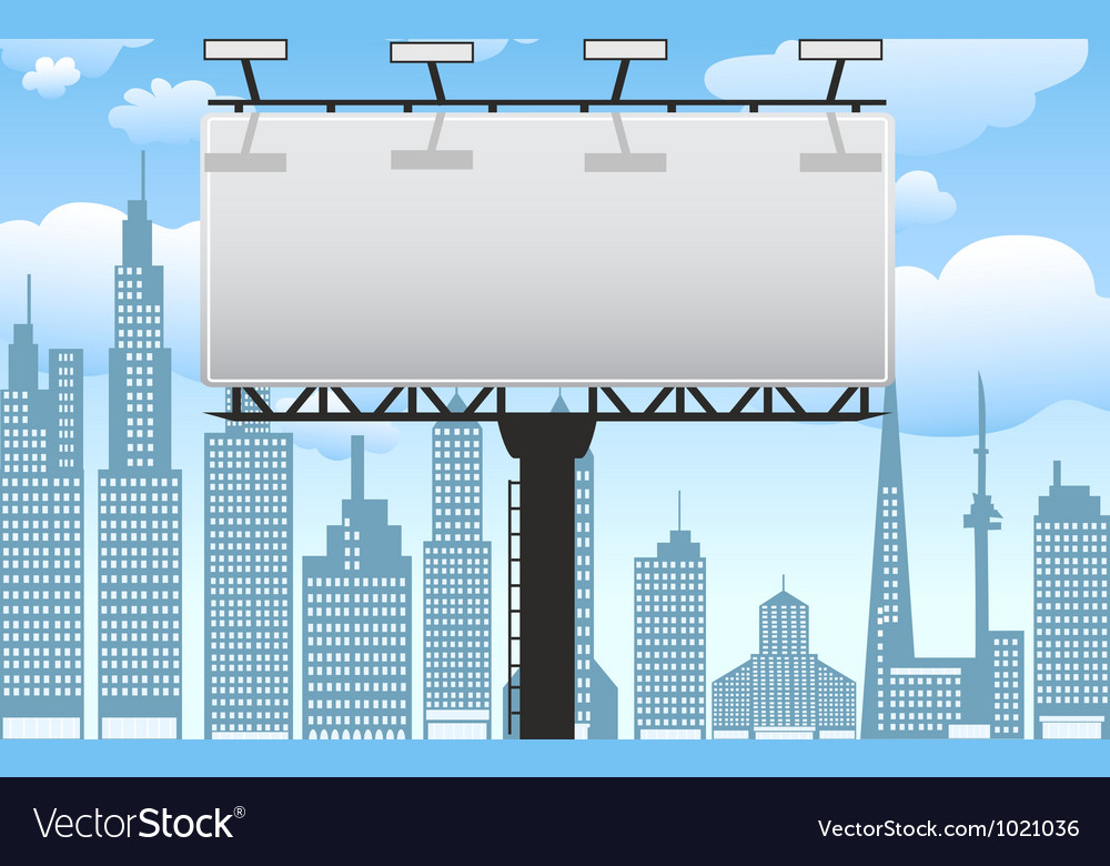 Billboard in city vector | Price: 1 Credit (USD $1)