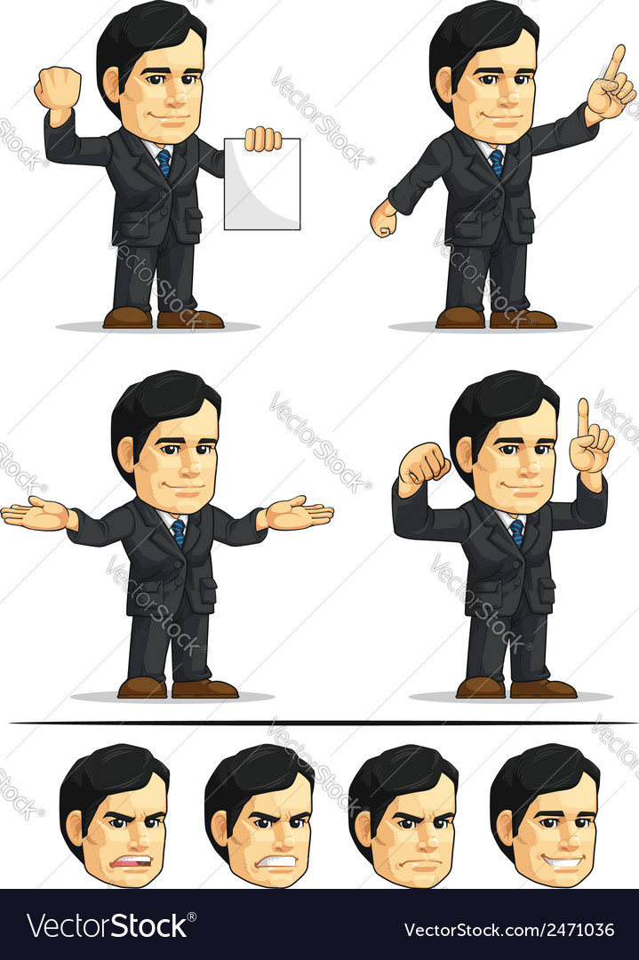 Businessman or company executive customizable 7 vector | Price: 1 Credit (USD $1)