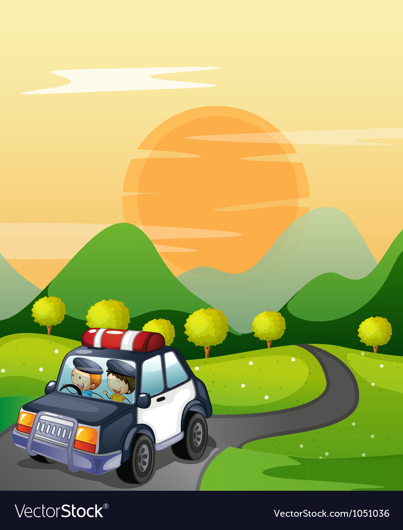 Car and road vector   Price: 3 Credit (USD $3)