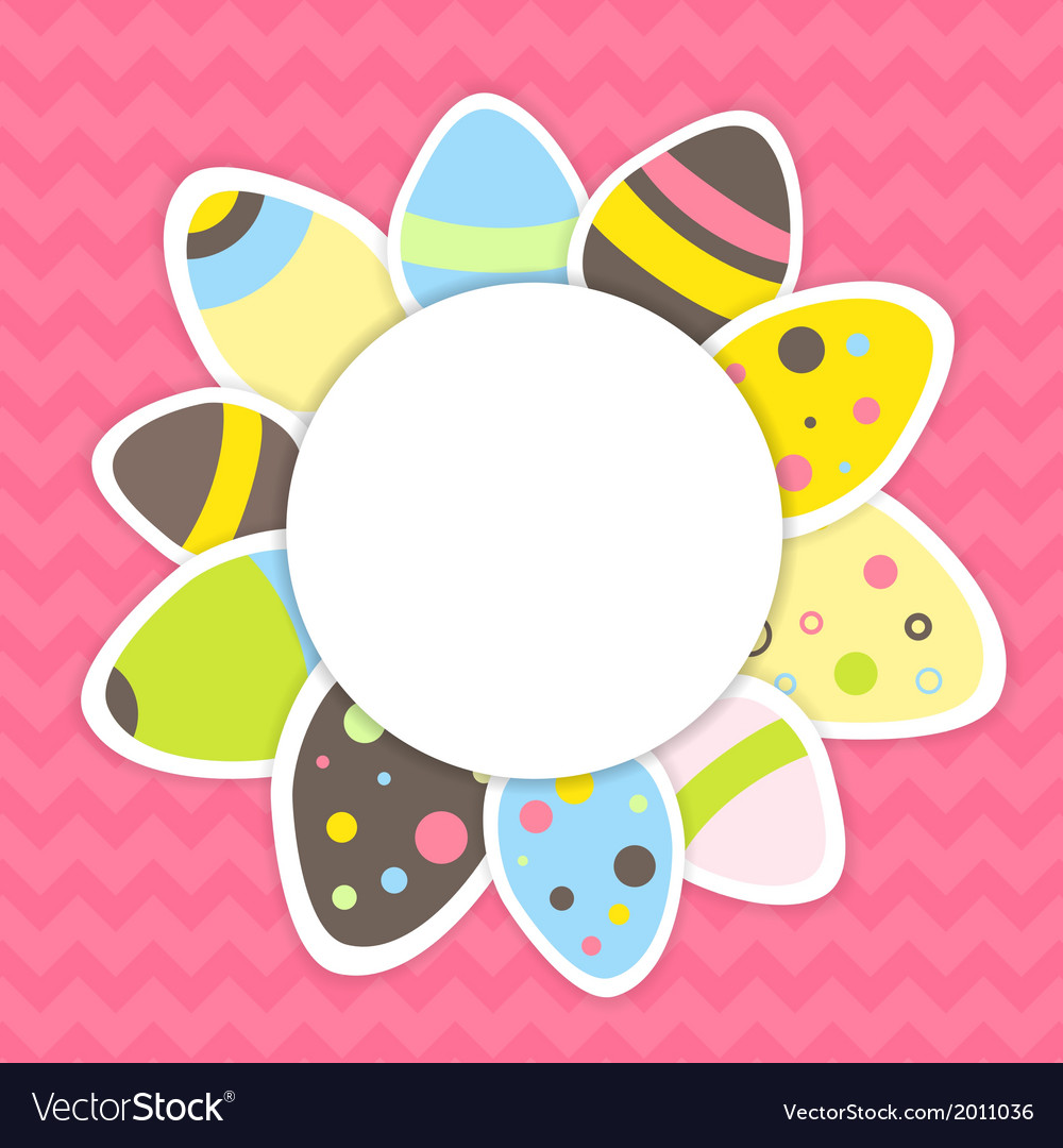 Eastern eggs pattern on a pink vector   Price: 1 Credit (USD $1)