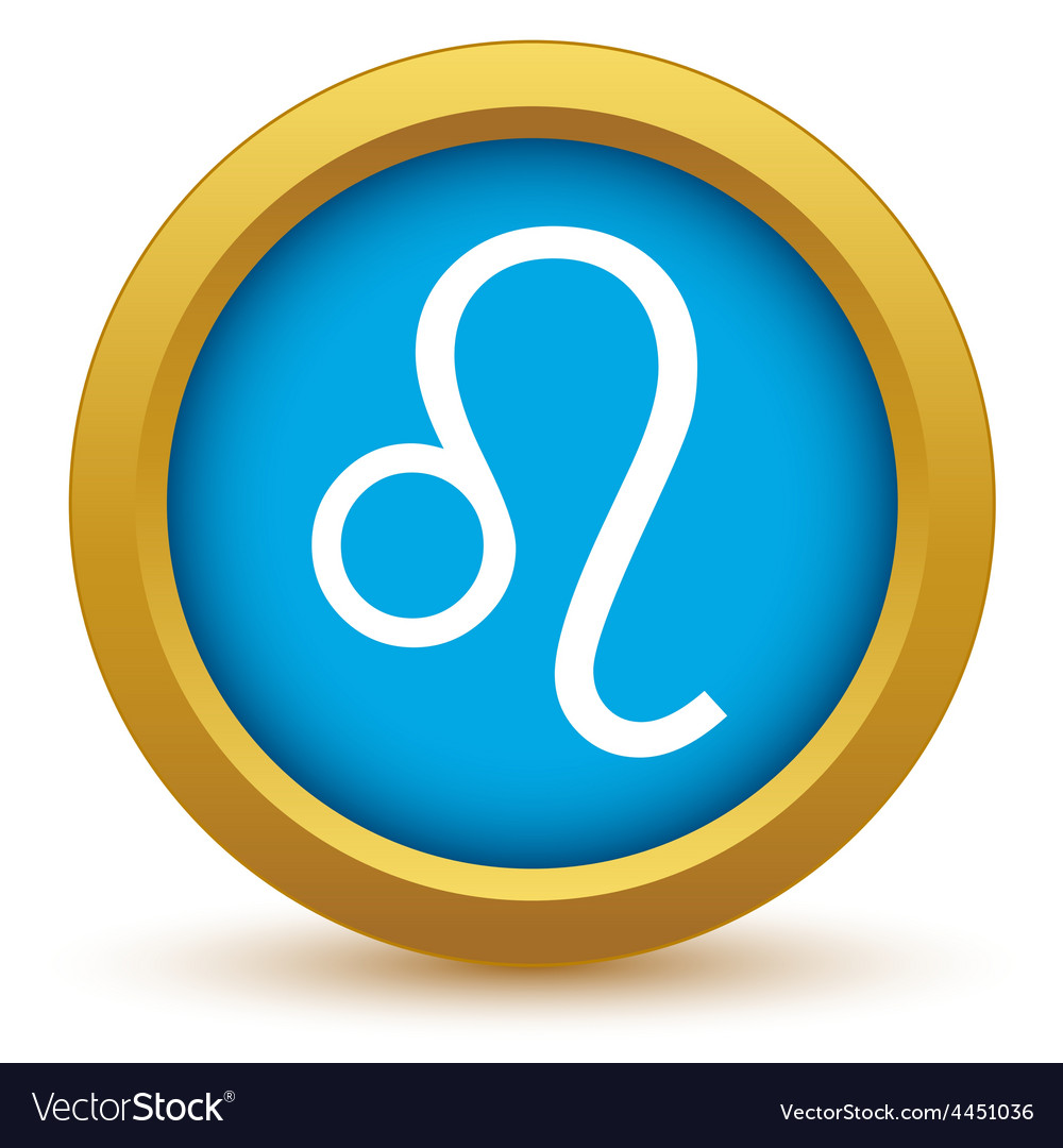 Gold leo icon vector | Price: 1 Credit (USD $1)