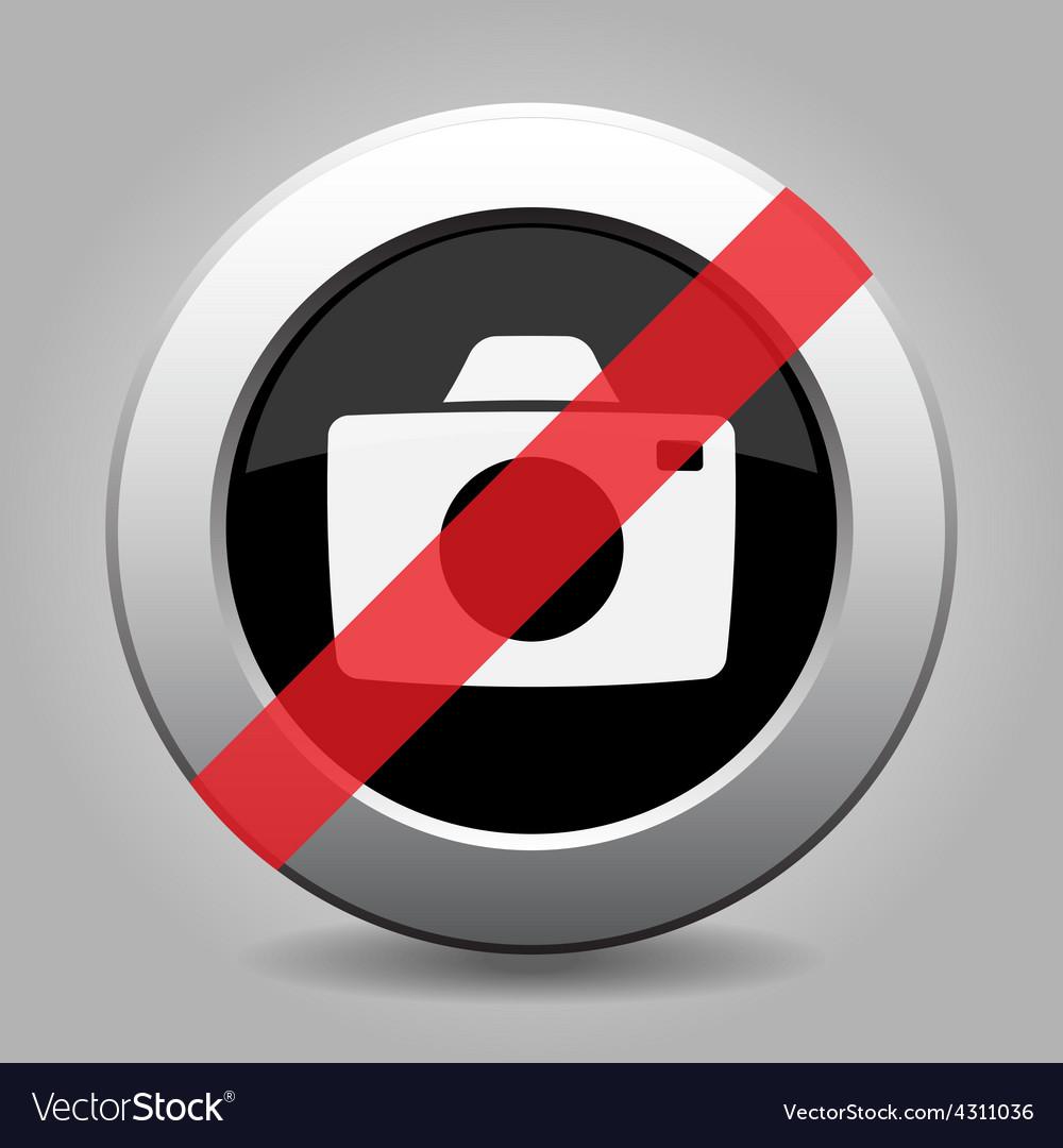 Grey chrome button - no camera vector | Price: 1 Credit (USD $1)