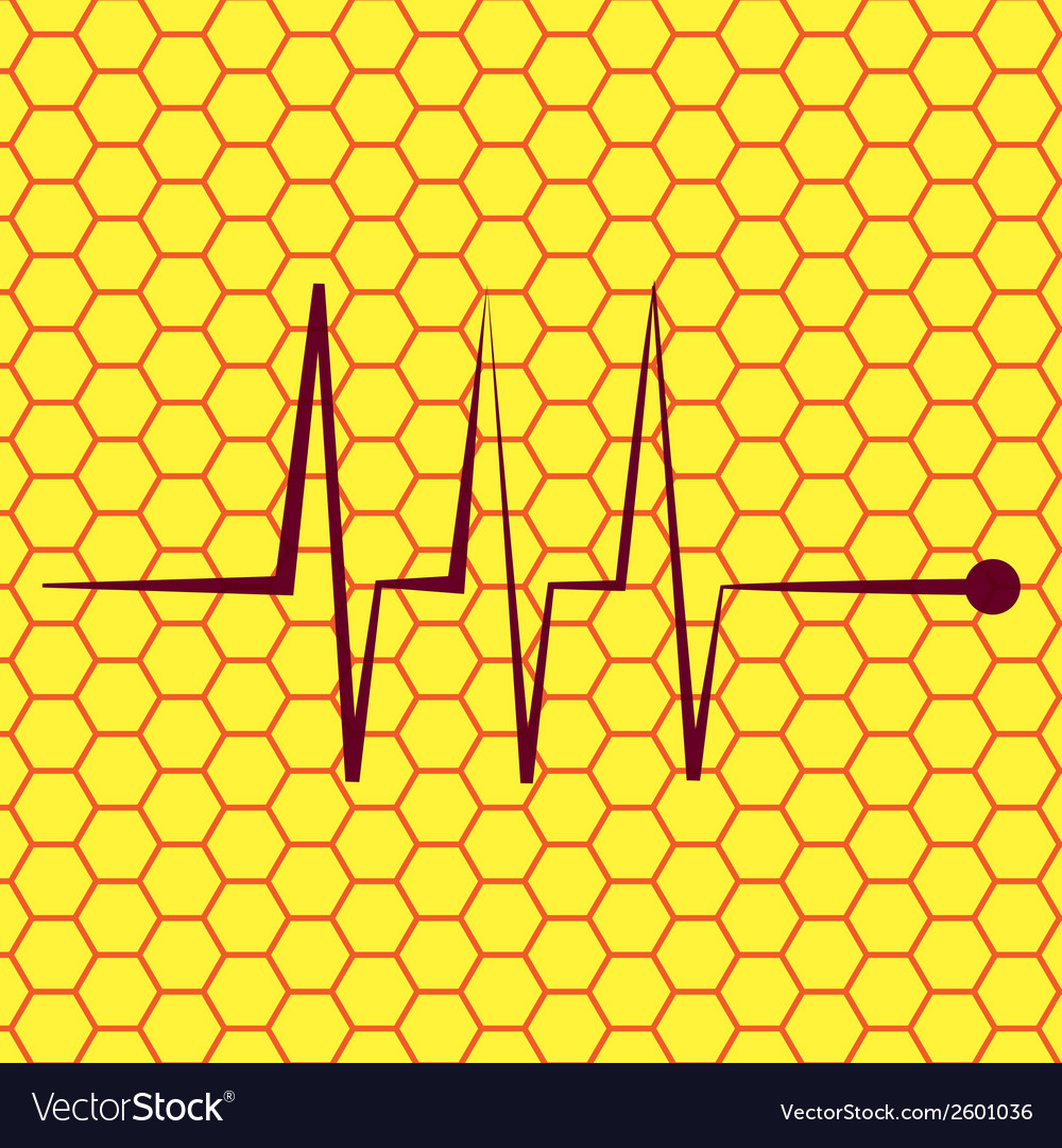 Heart rhythm flat modern web button and space for vector | Price: 1 Credit (USD $1)