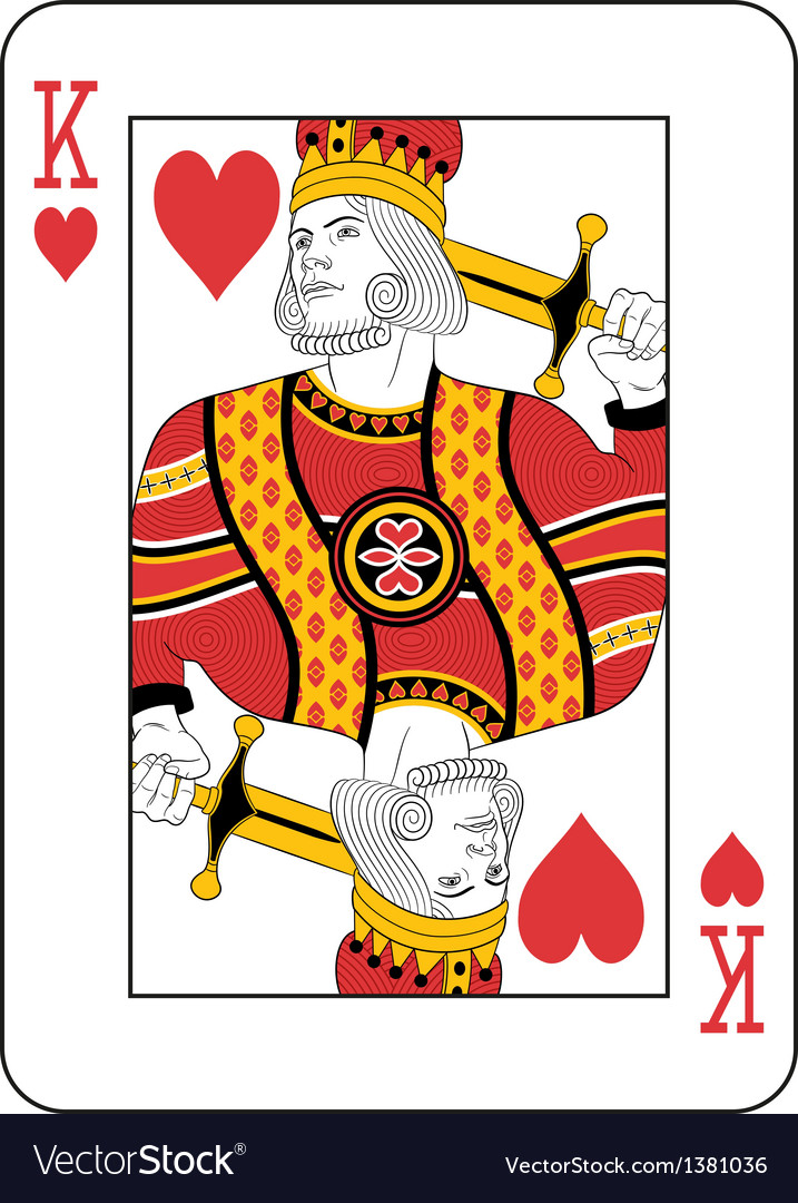 King of hearts vector | Price: 1 Credit (USD $1)