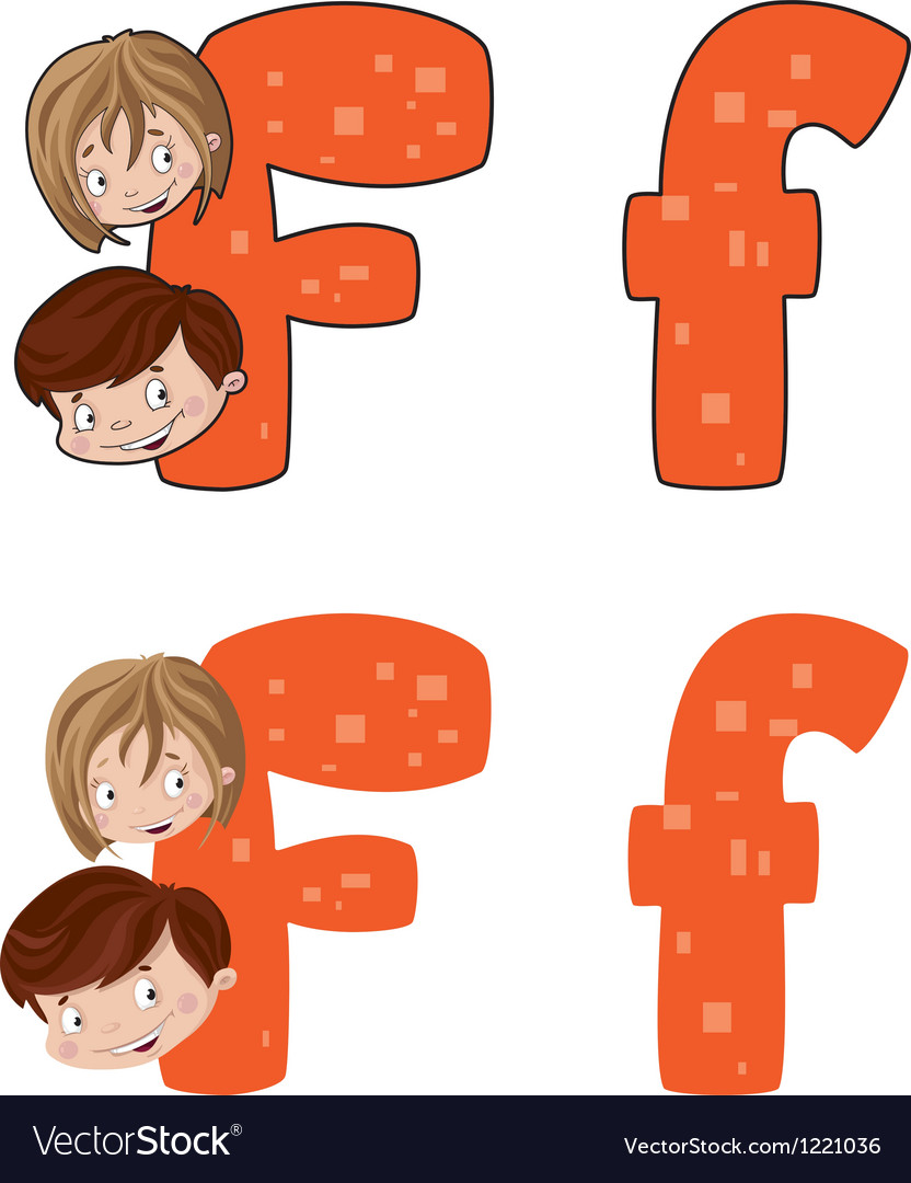 Letter f face vector | Price: 1 Credit (USD $1)
