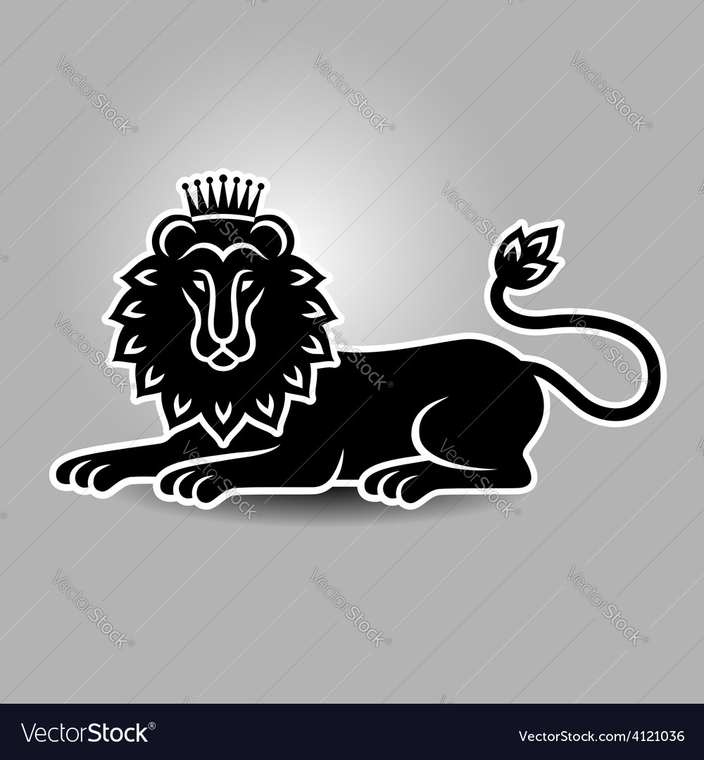 Lion symbol vector | Price: 1 Credit (USD $1)