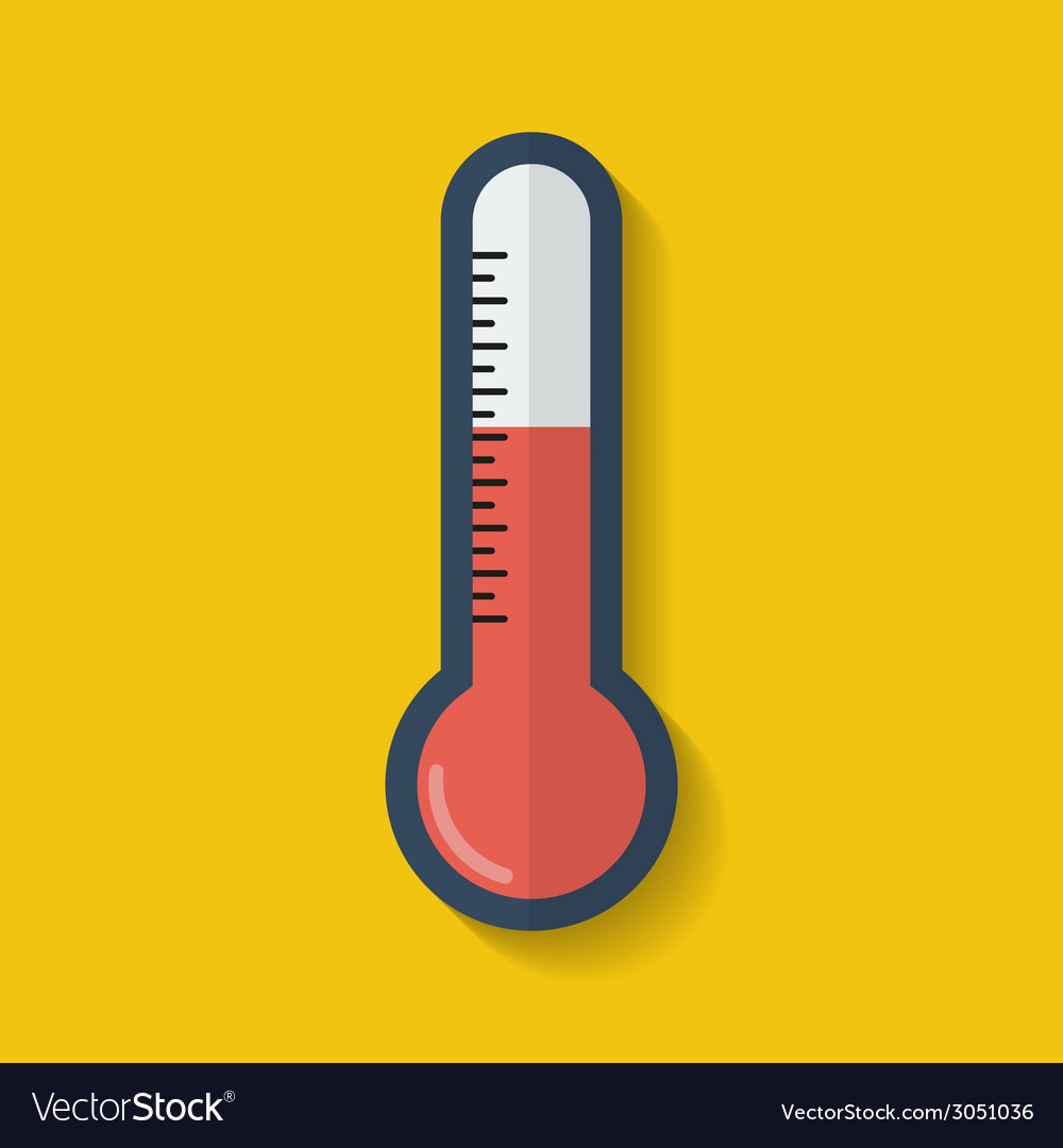 Thermometer icon flat style vector | Price: 1 Credit (USD $1)