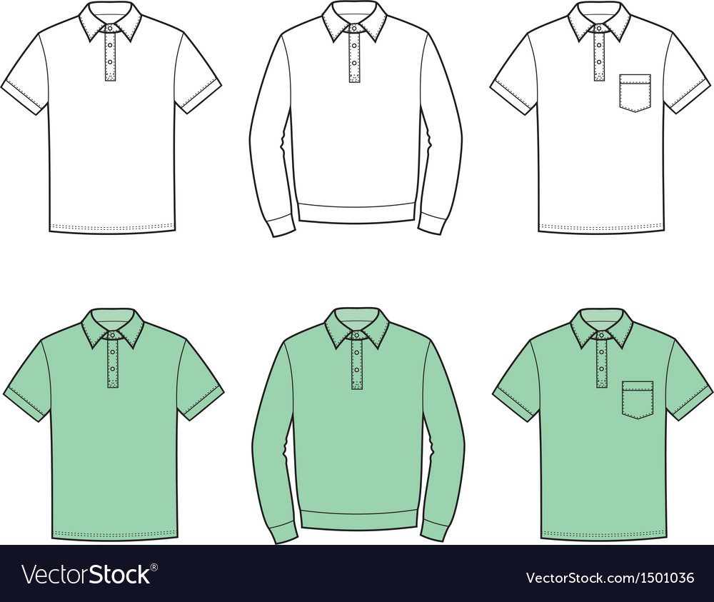 Polo t-shirts vector | Price: 1 Credit (USD $1)
