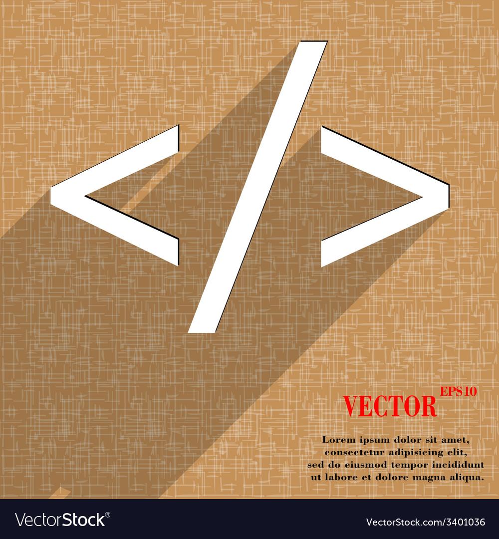 Programming code icon symbol flat modern web vector | Price: 1 Credit (USD $1)