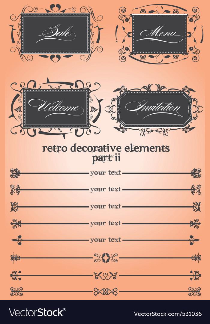 Retro decorative remake ii vector | Price: 1 Credit (USD $1)
