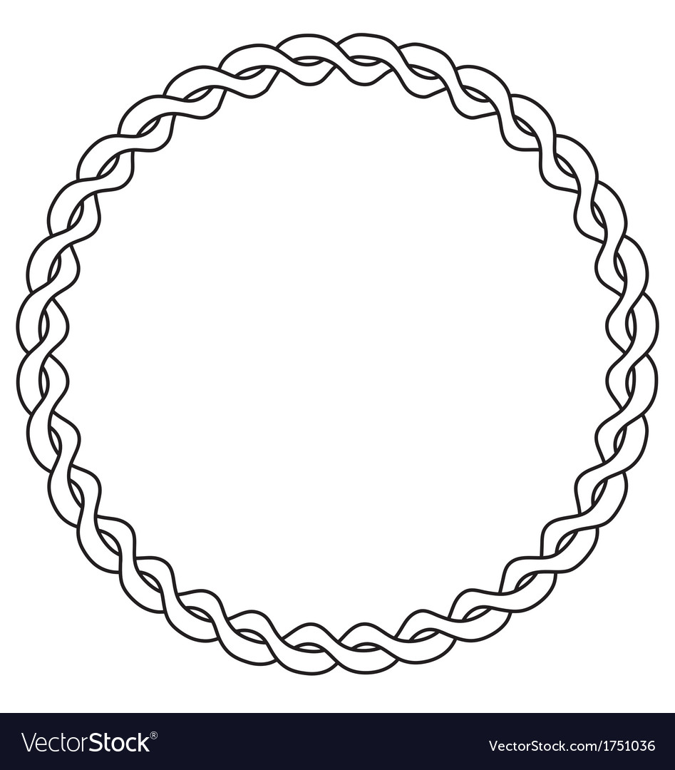 Rope circle vector | Price: 1 Credit (USD $1)