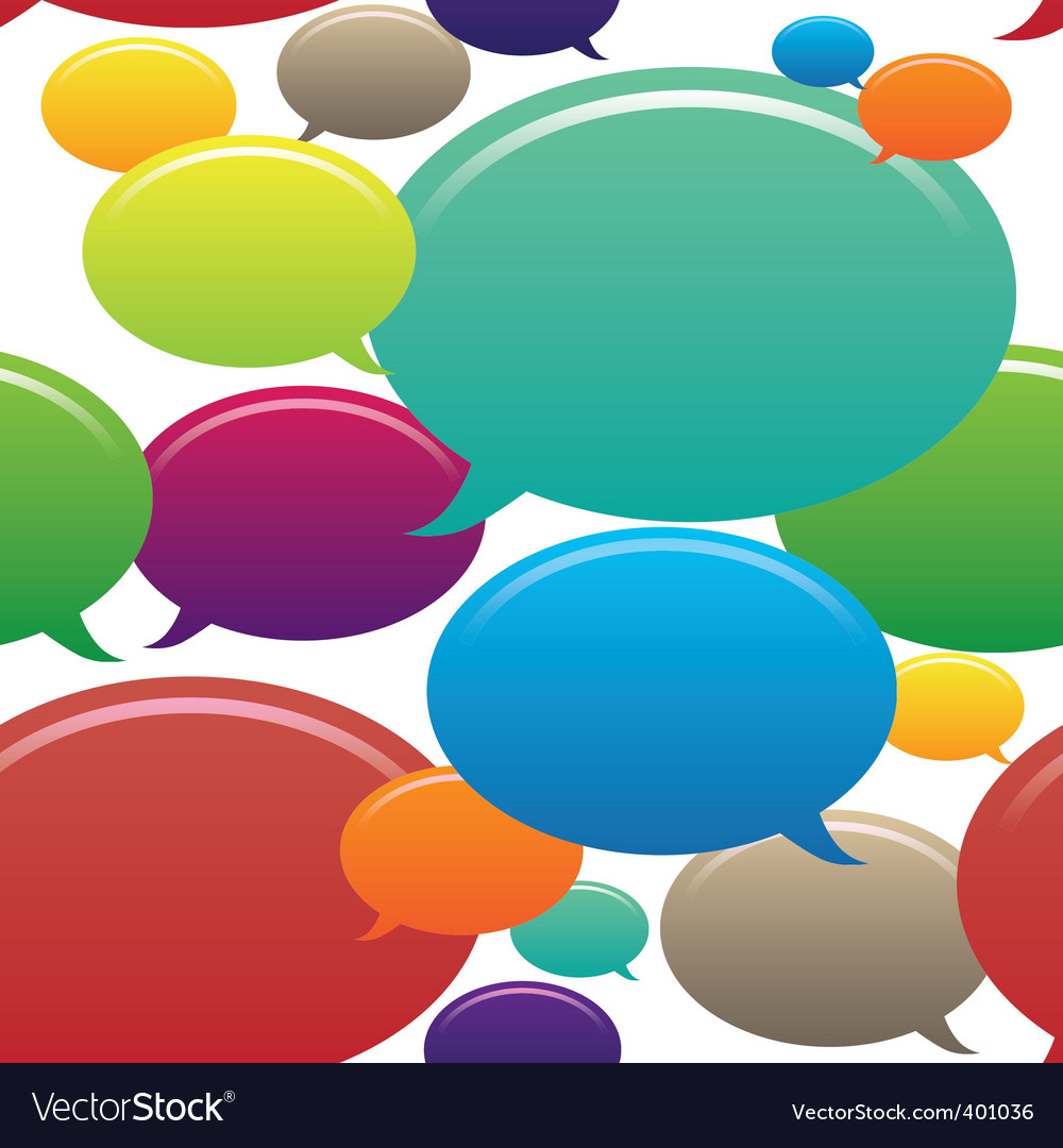 Speech bubbles seamless pattern vector | Price: 1 Credit (USD $1)