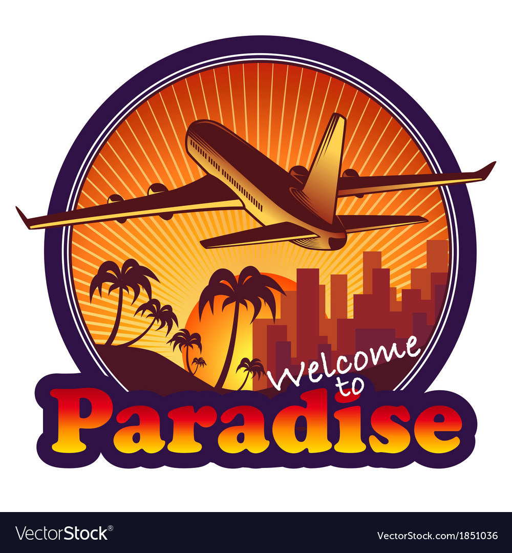Travel paradise vector | Price: 1 Credit (USD $1)